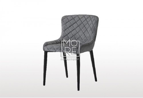 Aria Grey Velvet Dining Chair