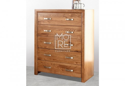 Fontana Chest American Ash Solid Timber Tallboy