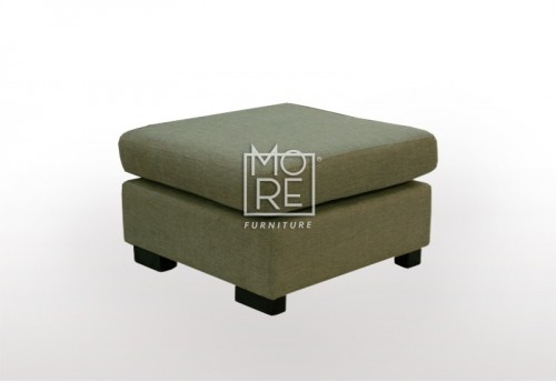 APT Fabric Ottoman Chocolate