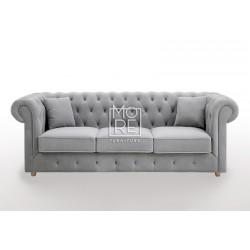 DB Luxury Velvet Feel Fabric Italian 3 Seater Sofa