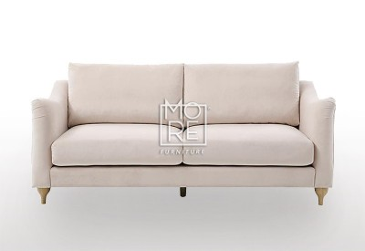 DB Luxury Velvet 2.5 Seater Pink Sofa