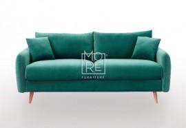 DB Luxury Velvet Feel Fabric Italian 2.5 Seater Sofa