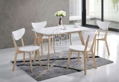 DB Malaysia 5Pce White Timber Dining Suite