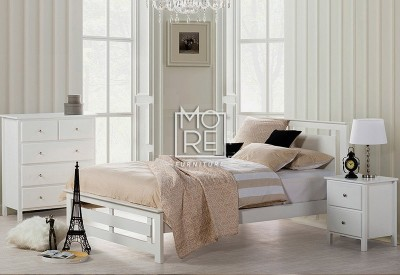 Tana (King) NZ Pine Solid Timber Bed Frame White