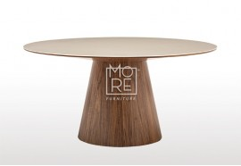 Cello American Walnut veneer 1.5m Round Dining Table