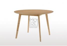 Jessie Rubber Wood & Oak Veneer 1m Round Dining Table