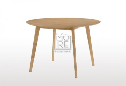Jessie Rubber Wood & Oak Veneer 1m Round Dining Table