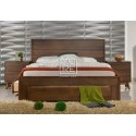 Coral Rubber Wood Solid Timber Bed Frame with 4 Drawers Walnut