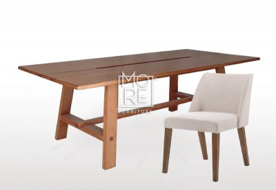 Asari 9Pce Tassie Oak Timber Dining Suite with Nido Chairs