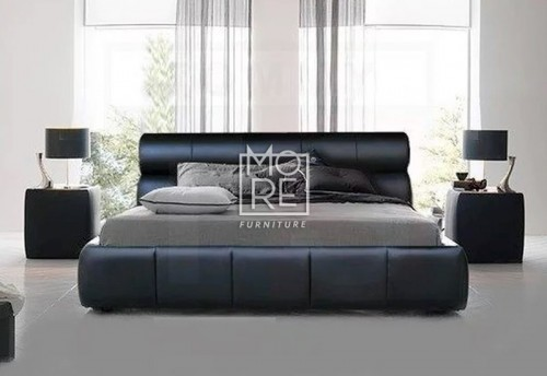 Hublot PU Leather Timber Bed Frame