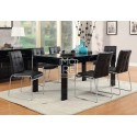 Edgewood 7Pce High Gloss Dining Suite Black