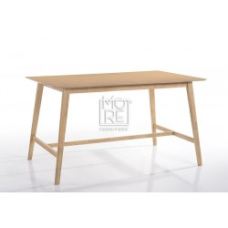 Enzo Timber 1.6m Large Bar Table Natural