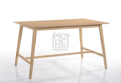 Enzo Timber 1.6m Large Bar Table Natural
