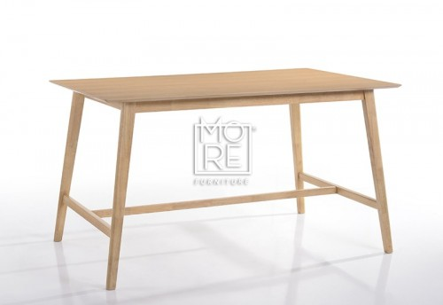 Enzo Solid Timber Large Bar Table Natural