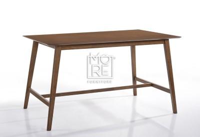 Enzo Timber 1.6m Large Bar Table Walnut