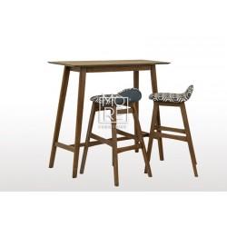 Enzo Timber 1.2m Small Bar Table Walnut