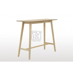 Enzo Timber 1.2m Small Bar Table Natural