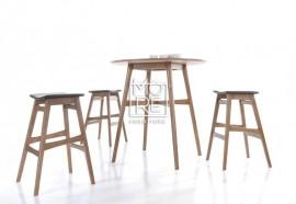 Enzo Timber Small Bar Table Natural