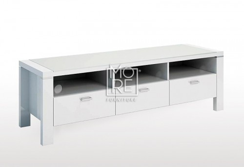 Edgewood High Gloss 1.5m TV Unit White