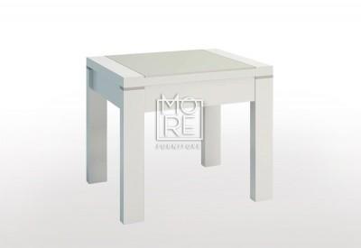 Edgewood High Gloss Lamp Table White