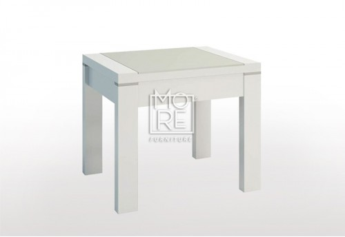 Edgewood High Gloss Lamp Table White
