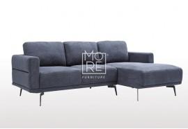 DB New Super Comfy Fabric 3 Seataer Chaise Dark Blue