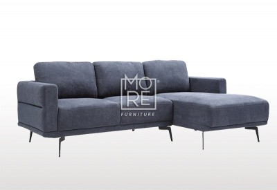 DB New Super Comfy Fabric 3 Seater Chaise Dark Blue