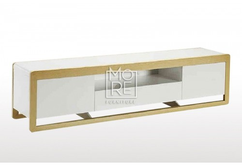 Oslo High Gloss 2m TV Unit White Oak
