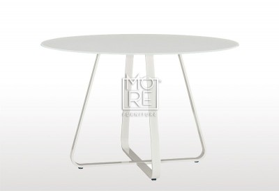 Tulips Glass Top 1.2m Round Dining Table