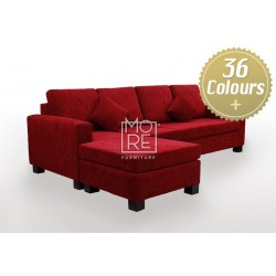 LG Custom Made Soft Back 4 Seater Chaise Fabric
