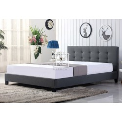 DB New Classic Fabric Bed Frame Grey