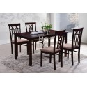 EVE Warm 1 Table + 4 Chairs Wooden Dining Suite