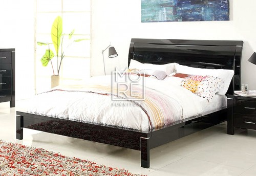 Domus (Edgewood) High Gloss Bed Frame Black