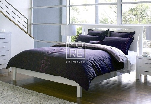 Domus (Edgewood) High Gloss Bed Frame White