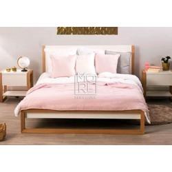 Como Oak Veneer Bed Frame Matt White