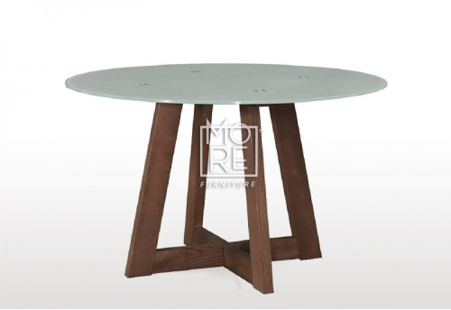 Megan Round Glass Top Dining Table