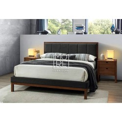 Wallace Rubber Wood Solid Timber Bed Frame