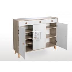 EVE Acacia Shoe Cabinet Oak&White