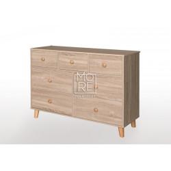 EVE Acacia 7 Drawers Dresser Oak