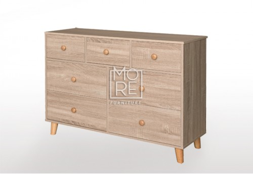 EVE Acacia 7 Drawers Dresser Oak