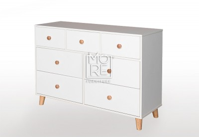 EVE Acacia 7 Drawers Dresser White