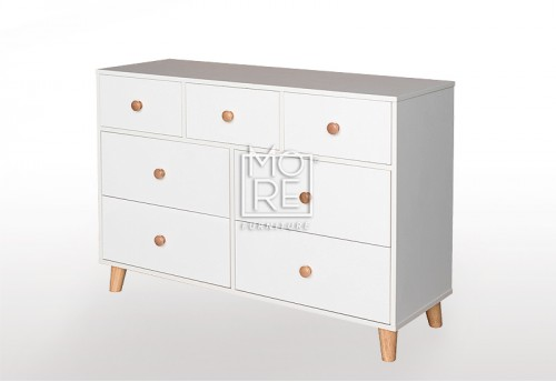 EVE Acacia 7 Drawers Dresser White
