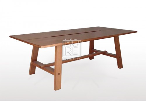 Asari Tassie Oak Timber 2.1m Dining Table