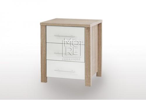 EVE CUE Bedside Table Oak&White