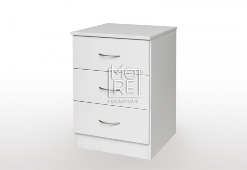 EVE MS MDF Bedside Table White