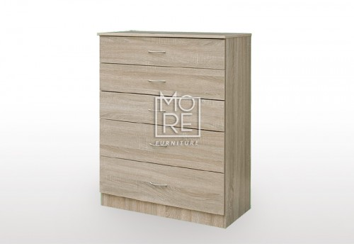 EVE MS Chest MDF Tallboy Oak