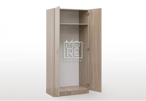 EVE MS Clothes Hanger MDF Wardrobe Oak