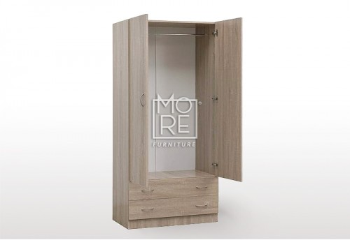 EVE MS MDF Wardrobe Oak