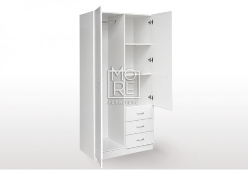 EVE MS 3 Drawers Combo MDF Wardrobe
