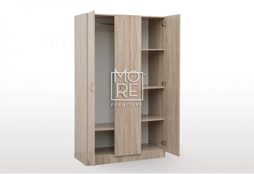 EVE MS Cottage Robe MDF Wardrobe Oak